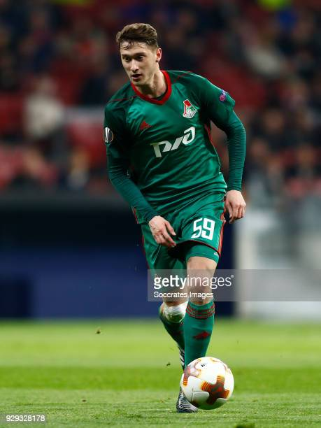 Aleksei Miranchuk of Lokomotiv Moscow during the UEFA Europa League match between Atletico Madrid v Lokomotiv Moscow at the Estadio Wanda...