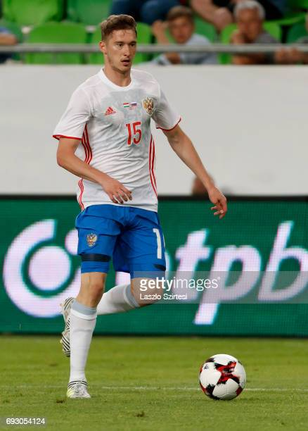 Aleksei Miranchuk of Russia controls the ball during the International Friendly match between Hungary and Russia at Groupama Arena on June 5 2017 in...
