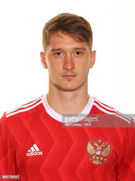Aleksei Miranchuk of Russia during a portrait session at the Lotte Hotel on June 13 2017 in Moscow Russia