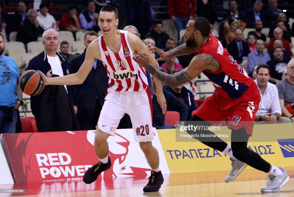 Some feel that Olympiacos' 6-11 forward, Aleksej Pokusevski may be a first round talent in the 2020 NBA Draft. (Photo: Panagiotis Moschandreou/Euroleague Basketball via Getty Images)
