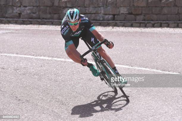 Aleksejs Saramotins of Latvia and Team Bora Hansgrohe / during the 42nd Tour of the Alps 2018 Stage 1 a 1346km stage from Arco to Folgaria 1160m on...