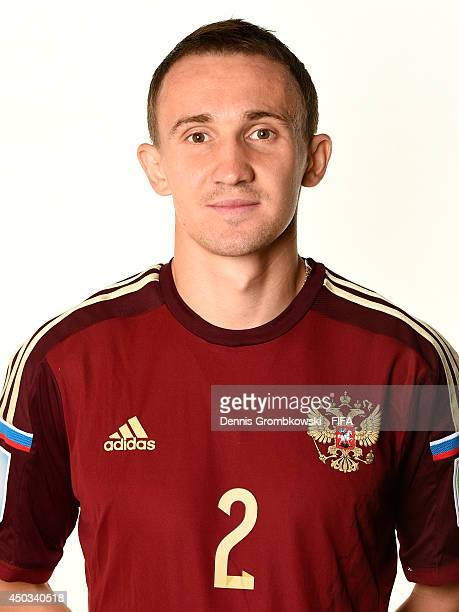 Aleksey Kozlov of Russia poses during the Official FIFA World Cup 2014 portrait session on June 9 2014 in Sao Paulo Brazil