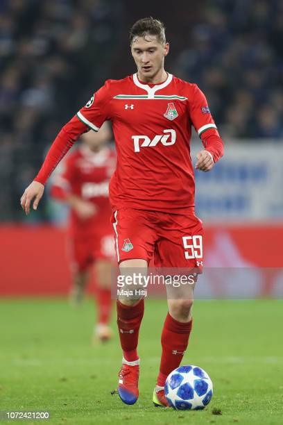 Aleksey Miranchuk of Lokomotiv Moscow controls the ball during the UEFA Champions League Group D match between FC Schalke 04 and FC Lokomotiv Moscow...