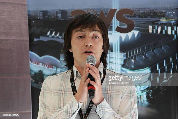 Aleksey Sokhnev speaks during the Russian Film Commission Presentation held at the Russian Pavillion during the 63rd Annual International Cannes Film...