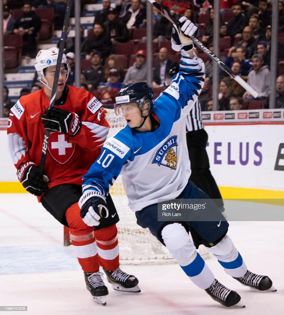 Finland v Switzerland: Semifinals - 2019 IIHF World Junior Championship : News Photo