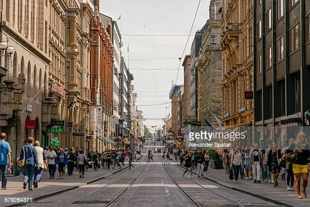 Aleksi shopping street in Helsinki, Finland