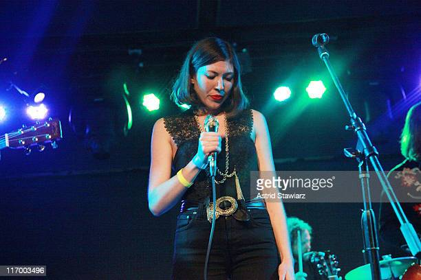 Alela Diane performs during the 2011 Northside Music Festival at the Knitting Factory Brooklyn on June 18 2011 in New York City
