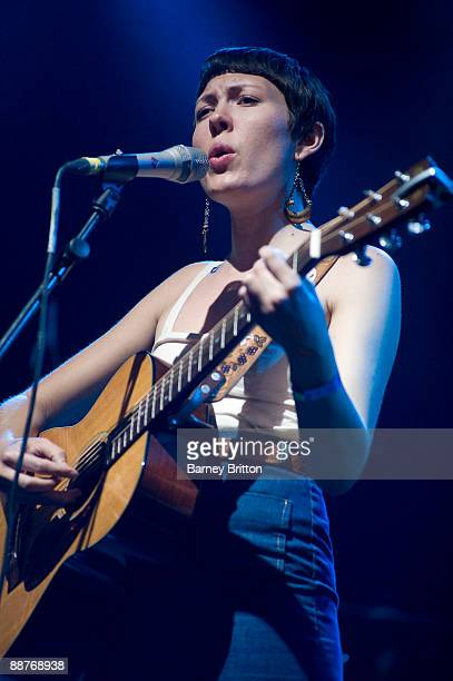 Alela Diane performs on stage as part of the Serpentine Sessions at Hyde Park on June 30 2009 in London England
