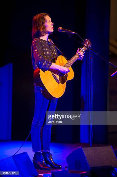 Alela Diane performs on stage at Foyer del Gran Teatre del Liceu on November 21 2015 in Barcelona Spain