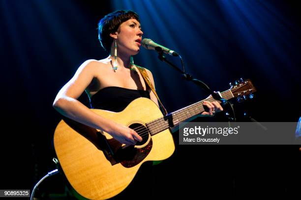 Alela Diane performs on stage at Shepherds Bush Empire on September 17 2009 in London England