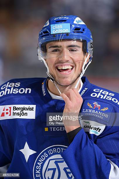 Alen Bibic of Leksands IF during the HockeyAlsvenskan game between Leksands IF and Asploeven HC on October 9, 2015 in Leksand, Sweden.