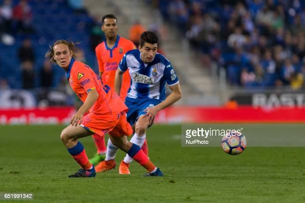 Alen Halilovic during the match between RCD Espanyol vs Las Palmas for the round 27 of the Liga Santander played at RCD Espanyol Stadium on 10th...