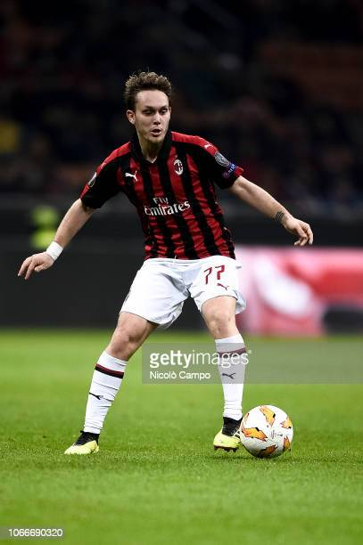Alen Halilovic of AC Milan in action during the UEFA Europa League football match between AC Milan and F91 Dudelange. AC Milan won 5-2 over F91...