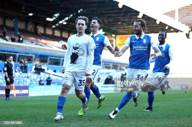 Alen Halilovic of Birmingham City celebrates scoring his side second and winning goal during the Sky Bet Championship match between Birmingham City...