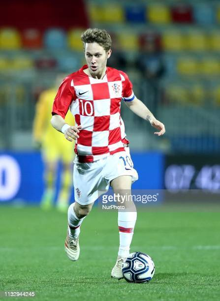 Alen Halilovic of Croatia during the UEFA friendly foootball match Italy U21 v Croatia U21 at the Benito Stirpe Stadium in Frosinone, Italy on March...