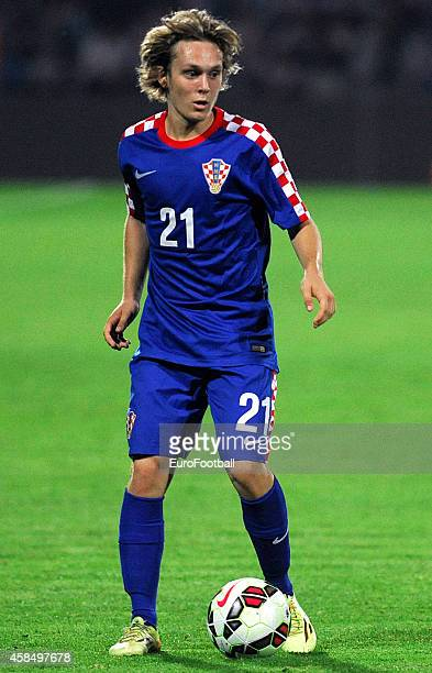 Alen Halilovic of Croatia in action during the UEFA U21 Championship Playoff Second Leg match between Croatia and England at the Stadion Hnk Cibalia...