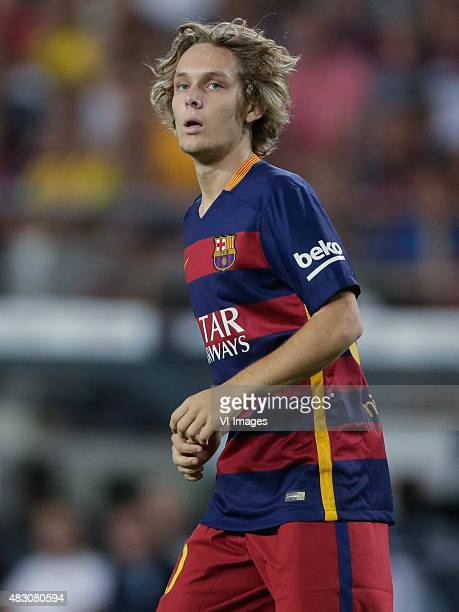 Alen Halilovic of FC Barcelona during the Joan Gamper Trophy match between Barcelona and AS Roma on August 5, 2015 at the Camp Nou stadium in...