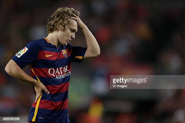 Alen Halilovic of FC Barcelona during the Joan Gamper Trophy match between Barcelona and AS Roma on August 5 2015 at the Camp Nou stadium in...