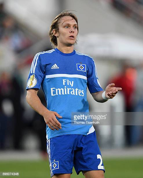 Alen Halilovic of Hamburg during the DFB Cup match between FSV Zwickau and Hamburger SV at Stadion Zwickau on August 22 2016 in Zwickau Germany
