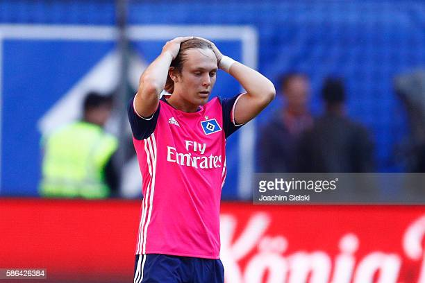 Alen Halilovic of Hamburg during the preseason friendly match between Hamburger SV and Stoke City at Volksparkstadion on August 6 2016 in Hamburg...