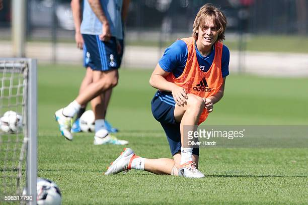 Alen Halilovic of Hamburg during the training session at Volkspark on September 1 2016 in Hamburg Germany