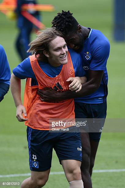 Alen Halilovic of Hamburg Sport Verein during the training session at Volksparkstadion on September 26 2016 in Hamburg Germany