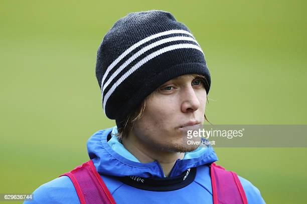 Alen Halilovic of Hamburg Sport Verein in action during a training session at Volksparkstadion on December 14 2016 in Hamburg Germany