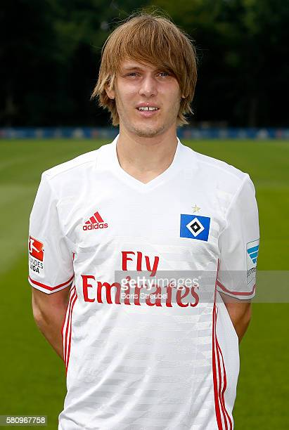 Alen Halilovic of Hamburger SV poses during the Hamburger SV Team Presentation at Volksparkstadion on July 25 2016 in Hamburg Germany