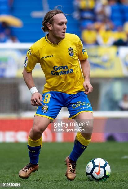 Alen Halilovic of Las Palmas in action during the La Liga match between Las Palmas and Sevilla at Estadio Gran Canaria on February 17 2018 in Las...
