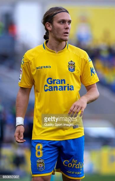 Alen Halilovic of Las Palmas looks on during the La Liga match between Las Palmas and Villarreal at Estadio Gran Canaria on March 11 2018 in Las...