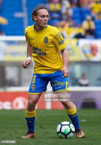 Alen Halilovic of Las Palmas runs with the ball during the La Liga match between Las Palmas and Sevilla at Estadio Gran Canaria on February 17 2018...