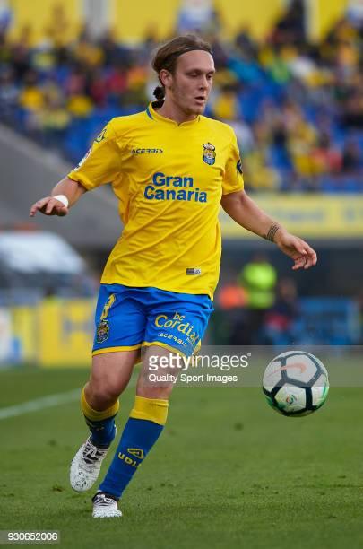 Alen Halilovic of Las Palmas runs with the ball during the La Liga match between Las Palmas and Villarreal at Estadio Gran Canaria on March 11 2018...