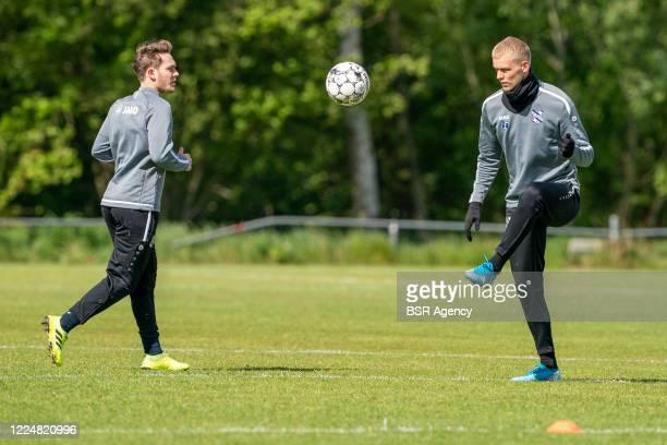 Alen Halilovic of SC Heerenveen and Jens Odgaard of SC Heerenveen are seen during the training session of SC Heerenveen on May 14, 2020 in Amsterdam,...