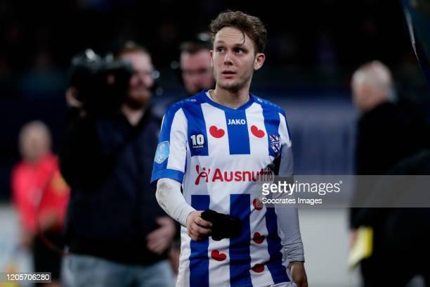 Alen Halilovic of SC Heerenveen during the Dutch Eredivisie match between SC Heerenveen v Ajax at the Abe Lenstra Stadium on March 7, 2020 in...