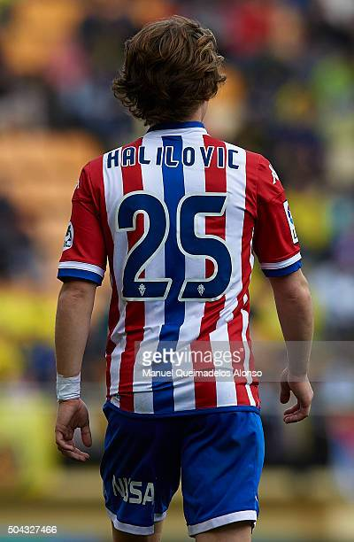 Alen Halilovic of Sporting de Gijon is pictured during the La Liga match between Villarreal CF and Real Sporting de Gijon at El Madrigal on January...
