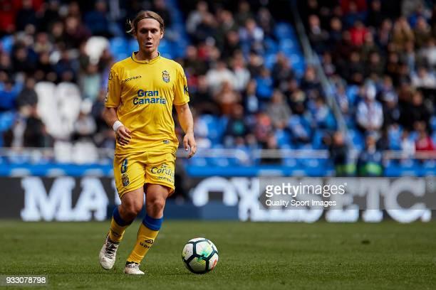 Alen Halilovic of UD Las Palmas in action during the La Liga match between Deportivo La Coruna and Las Palmas at Abanca Riazor Stadium on March 17...