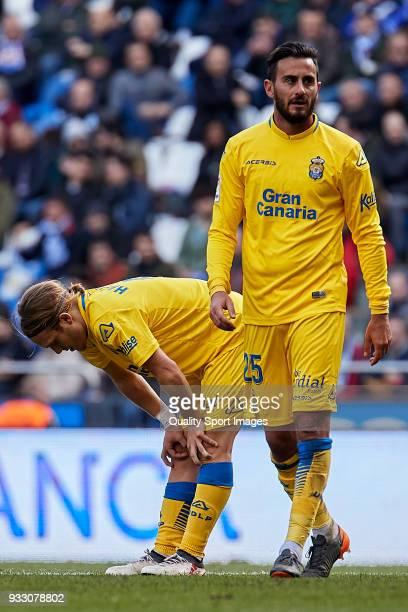 Alen Halilovic of UD Las Palmas reacts during the La Liga match between Deportivo La Coruna and Las Palmas at Abanca Riazor Stadium on March 17 2018...