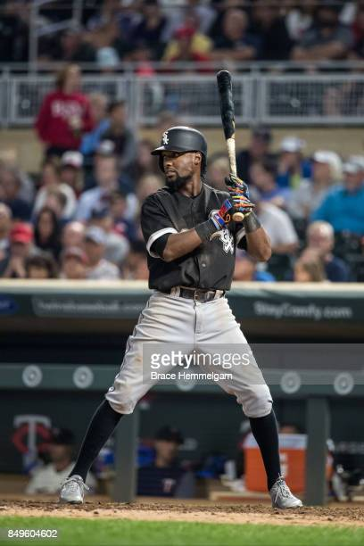 Alen Hanson of the Chicago White Sox bats against the Minnesota Twins on August 30 2017 at Target Field in Minneapolis Minnesota The Twins defeated...