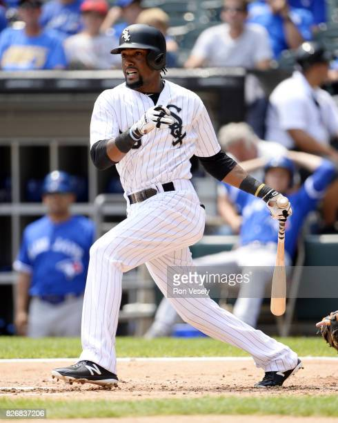 Alen Hanson of the Chicago White Sox bats against the Toronto Blue Jays on August 2 2017 at Guaranteed Rate Field in Chicago Illinois