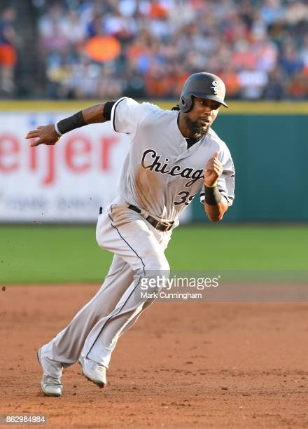 Alen Hanson of the Chicago White Sox runs the bases during the game against the Detroit Tigers at Comerica Park on September 16 2017 in Detroit...