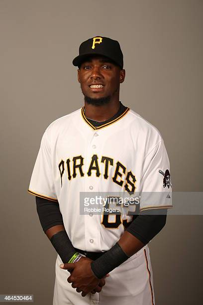 Alen Hanson of the Pittsburgh Pirates poses during Photo Day on Thursday February 26 2015 at Pirate City in Bradenton Florida