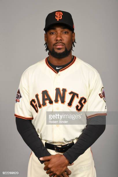 Alen Hanson of the San Francisco Giants poses during Photo Day on Tuesday February 20 2018 at Scottsdale Stadium in Scottsdale Arizona