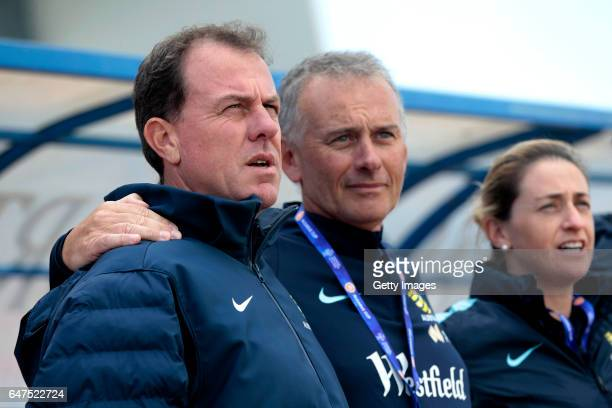 Alen Stajcic during the Algarve Cup Tournament Match between Australia W and Netherlands W on March 3 2017 in Vila Real de Santo Antonio Portugal