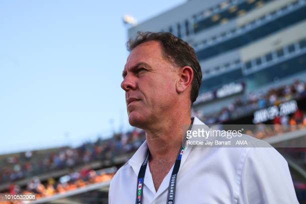 Alen Stajcic head coach / manager of Australia during the Tournament of Nations match between Australia and United States of America at Pratt Whitney...