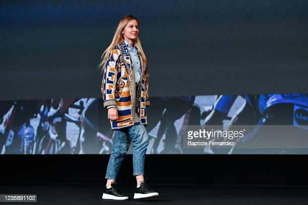 Alena AMIALIUSIK during the presentation of the Tour de France 2022 at Palais des Congres on October 14, 2021 in Paris, France.