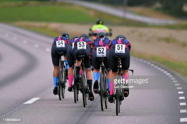 Alena Amialiusik of Belarus and Canyon SRAM Racing Team / Alice Barnes of United Kingdom and Canyon SRAM Racing Team / Hannah Barnes of United...
