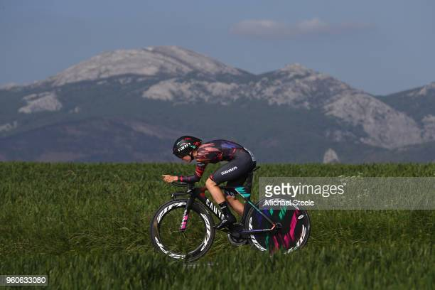 Alena Amialiusik of Belarus and CanyonSram Racing during the 31st Women WT EmakumeenBira Stage 2 266km Individual Time Trial from Agurain to Gastetz...