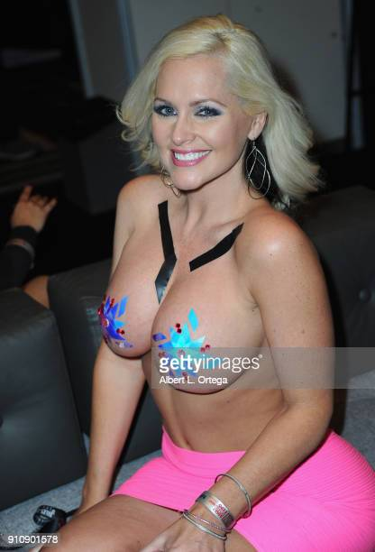 Alena Croft attends the 2018 AVN Adult Entertainment Expo at the Hard Rock Hotel Casino on January 26 2018 in Las Vegas Nevada