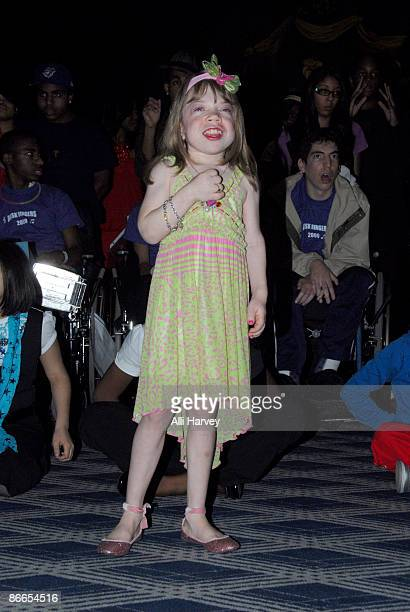 Alena Galan rehearses before the Garden of Dreams Foundation talent show at Radio City Music Hall on May 7 2009 in New York City