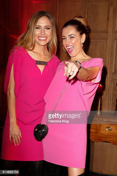 Alena Gerber and Jana Ina Zarrella attend the JT Touristik Celebrates ITB Party on March 10 2016 in Berlin Germany